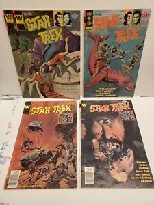 WHITMAN AND GOLD KEY STAR TREK COMIC BOOK LOT (5) 1976 - 1978