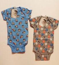 Gerber Baby Boy Onesie *2 PACK*  size 6-9 MONTHS MONKEY SPORTS NEW SHOWER GIFT