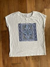Reserved White Tshirt  With Iridescent Beading Size L