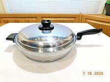 """KITCHEN CRAFT 12"""" FAMILIE SKILLET FRY PAN 5 PLY STAINLESS STEEL WEST BEND"""