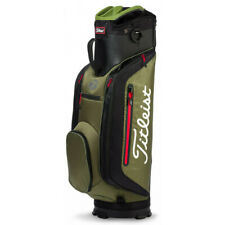 NEW Titleist 2018 Club 7 Cart / Carry 7-way Top Bag Black / Olive / Red