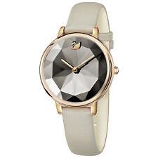 Swarovski 5415996 Crystal Lake Watch, Leather Strap,Gray,Rose Gold Tone RRP$499