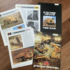 DJB Articulated Dump Truck - 5 Vintage Quarry Mining Original Brochure 1970s