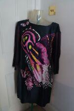 Just Cavalli silk floral print dress sz 44 UK 12