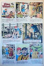 Prince Valiant by Hal Foster - scarce full page Sunday comic - February 8, 1970
