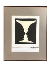 VERY IMPORTANT Jasper Johns Color Lithograph Plate Signed, Matted, Good Cond.