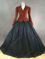 Victorian Civil War Dickens Caroler Dress Adult Vamire Halloween Costume  166