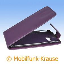 Flip Case Etui Handytasche Tasche Hülle f. HTC One (M8) (Violett)