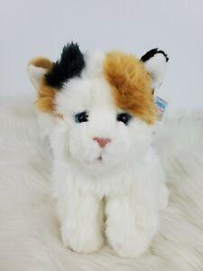 "Animal Alley White Brown Black Calico Kitten Cat Plush 9"" NWT"