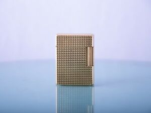 VINTAGE S.T. DUPONT PARIS LIGNE1 SMALL GOLD PLATED LIGHTER 20 MICRON