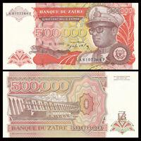 Zaire 500000 500,000  Zaires, 1992, P-43, UNC, Banknotes