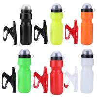 650ml Sportflasche mit Halter Trinkflasche Wasserflasche Fahrradflasche