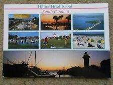 .POSTCARD.HILTON HEAD ISLAND,SOUTH CAROLINA.7 VIEWS  POSTED.STAMP 70c