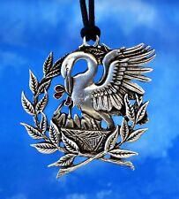 Pelican & Laurel Necklace Pendant Pelican in Her Piety Laurel Wreath Made in USA