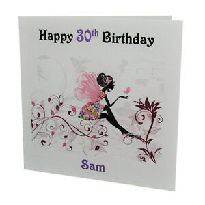 PERSONALISED Fairy/ Butterfly FEMALE BIRTHDAY CARD 18th, 21st, etc