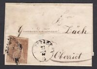 Switzerland 5 rappen on letter 1856 x Oberried