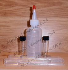 1 Snuffer Bottle, 2 BIG 2 DRAM Vials, 5 Suction Tweezers GOLD Prospecting Tools