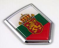 Bulgaria Flag Car Chrome Emblem Decal 3D bumper Sticker bike Crest