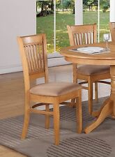Set of 4 Vancouver dinette kitchen dining chairs with microfiber upholstery, oak
