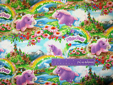 Pillow Pets Unicorn Rainbow Castle Fairytale Cotton Fabric BY THE HALF YARD