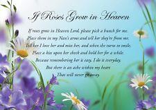 "Nan Memorial Bereavement Grave Birthday Card ""Weatherproof"" Free Stake & Postage"