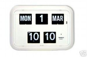 Retro Twemco Wall Flip Clock with Calender, Vintage Classic | Comes in 4 colours