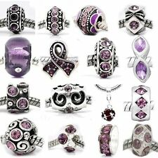 Ten (10) of Assorted Shades of Purple Crystal Rhinestone Beads