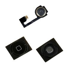 iPhone 4S 4GS Black Home Menu Button w/ Flex Cable Ribbon + Rubber Gasket Seal
