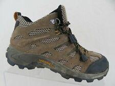 MERRELL Moab Ventilator Mid Brown Sz 4 Kids Hiking Boots