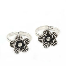Toe Ring Foot Jewelry In-2452 Oxidized Solid 925 Sterling Silver