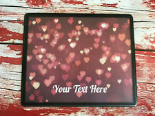 Personalised Nail Table Display Mat - Polish Manicure & Pedicure - Red Hearts