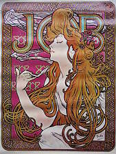 Vintage 1967 Mucha Poster Art Deco JOB Cigarette Papers Sandyval Graphics Retro