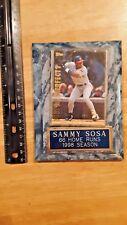 sammy sosa 66 home runs 1998 season baseball plaque