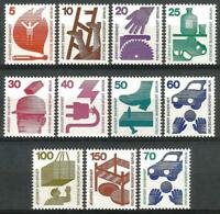 Germany Berlin 1971-1973 MNH Accident Prevention Set Mi-402/11,453 SG- 396/406