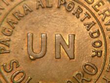 Peru 1964 Error with Internal Reverse Cud on 1 Sol.Sku#8558