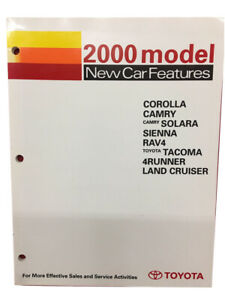 Toyota New Training Manual Car Features 2000 Book Corolla Camry Solara Models