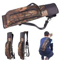 Outdoor Hunting Back Arrow Quiver Archery Bow Arrow Holder Belt Bag Camo Pouch