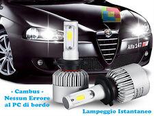 LAMPADE ABBAGLIANTI LED ALFA ROMEO 147 LAMPEGGIO ISTANTANEO 6000K