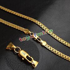5mm Mujer Collar Serpiente Cadena 18K oro Amarillo Para Colgante Collares