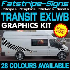FORD TRANSIT EXLWB GRAPHICS STICKERS STRIPES DECALS ST DAY VAN CAMPER JUMBO XLWB