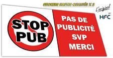 Autocollant sticker PAS DE PUBLICITE - STOP PUB