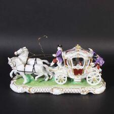 Unterweißbach Thüringen Figur Porzellanfigur Kutsche groß fein detailliert TOP