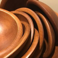 Beautiful Wooden Salad Bowls Service For 12 & Wooden Dinnerware Sets | eBay