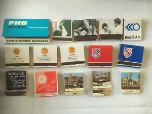 15 x vintage French and other non-British book matches, mostly unused #43