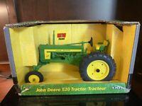 ERTL 1/16 Scale Die Cast Metal John Deere 520 Tractor New In Box.  9010