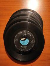 LOTTO 13 dischi 45 giri LP senza copertina vintage