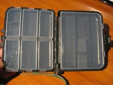 """Fly Fishing Tackle Box 16 Compartments / Black Case 4 3/4"""" x 4"""""""
