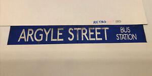"Kelvin Central 173 Glasgow Bus Destination Blind  42""- Argyle Street Bus Statikn"
