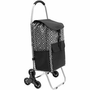 Mount-It! Stair Climber Shopping Cart with Bag