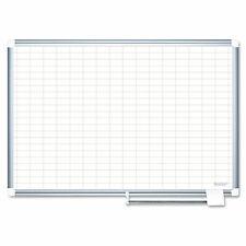Mastervision Grid Planning Board 1x2 Grid 72x48 Whitesilver Ma2792830